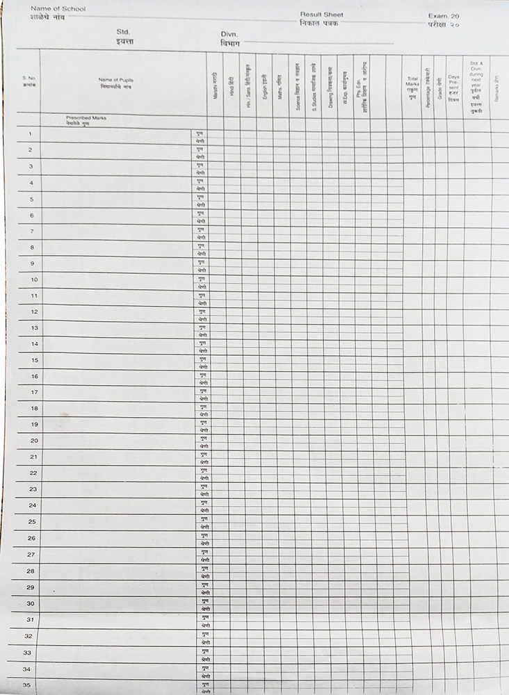 Annual-Exam-Result-Sheets